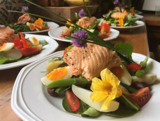 A sample of a delicious dinner at The Gables