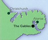 A map of The Gables location